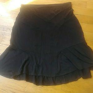 Diane von Furstenberg silk and cotton flare skirt